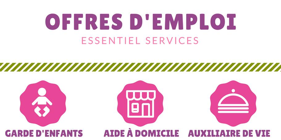 Essentiel Services recrute : plusieurs offres d'emploi de service à la personne !