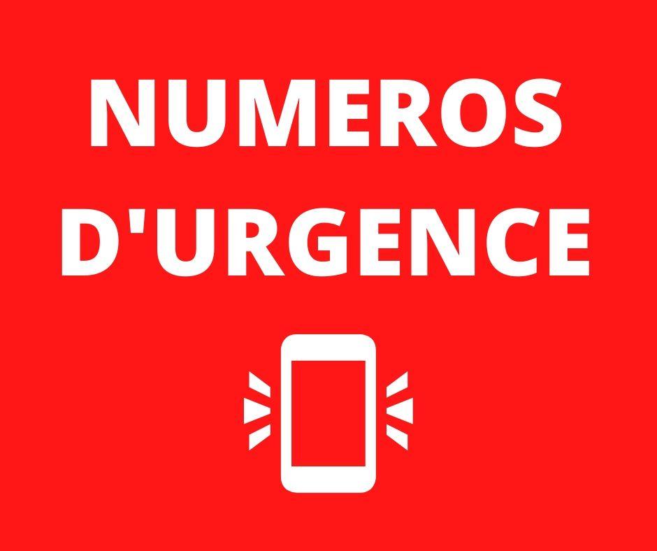 NUMÉROS D'URGENCE